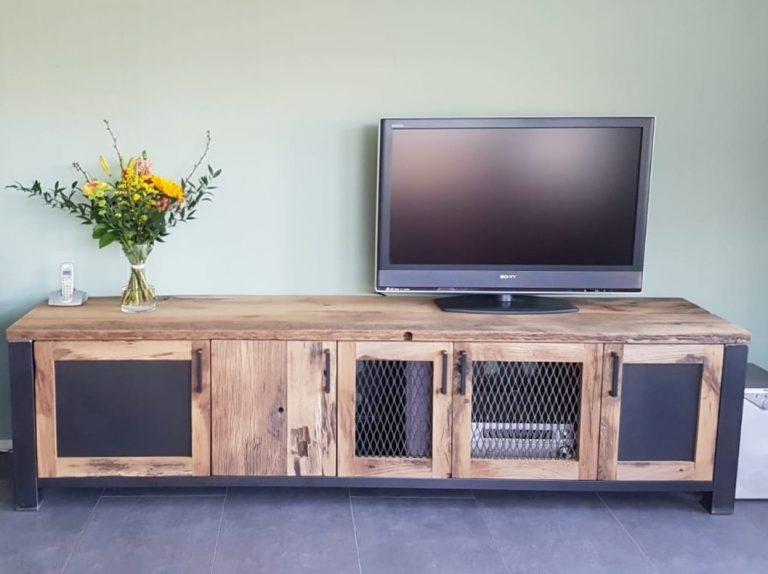 Tv dressoir oud eiken - Spant7